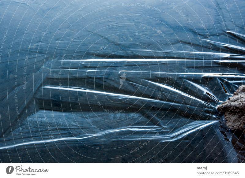 Eiszeit | Strukturen Natur Winter Frost kalt natürlich Eisfläche Farbfoto Gedeckte Farben Außenaufnahme Detailaufnahme Strukturen & Formen Menschenleer