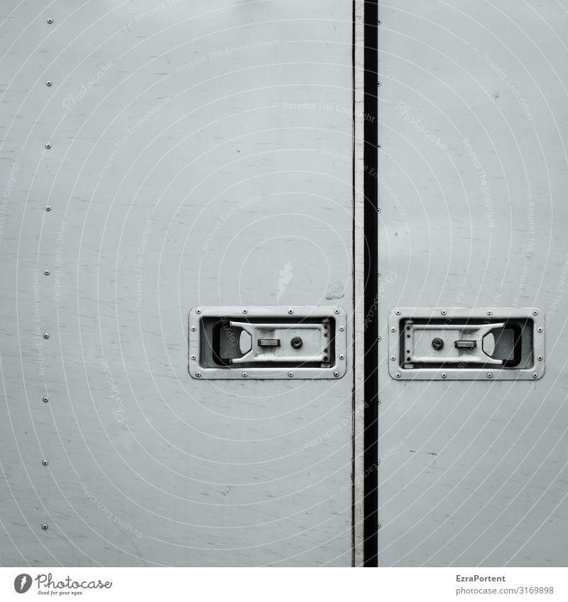 . - - weiß Hintergrundbild grau Design Linie Metall Tür geschlossen Streifen graphisch Lastwagen minimalistisch Spalte Niete Grafische Darstellung Verschluss