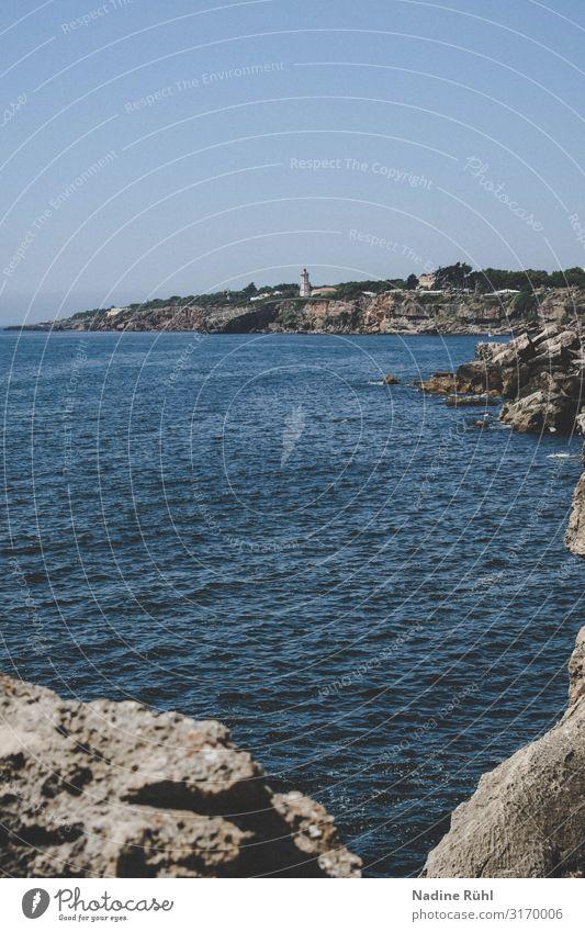 Boca do Inferno, Portugal Natur Landschaft Luft Wasser Sonne Sonnenlicht Frühling Sommer Schönes Wetter Küste Cascais Sehenswürdigkeit Stein Wärme blau