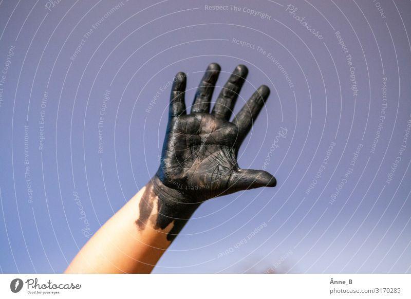 handbemalt Kind Mensch Farbe Hand Gefühle Spielen Freizeit & Hobby Körper Kindheit Arme Finger Idee Zeichen Neugier streichen Leidenschaft