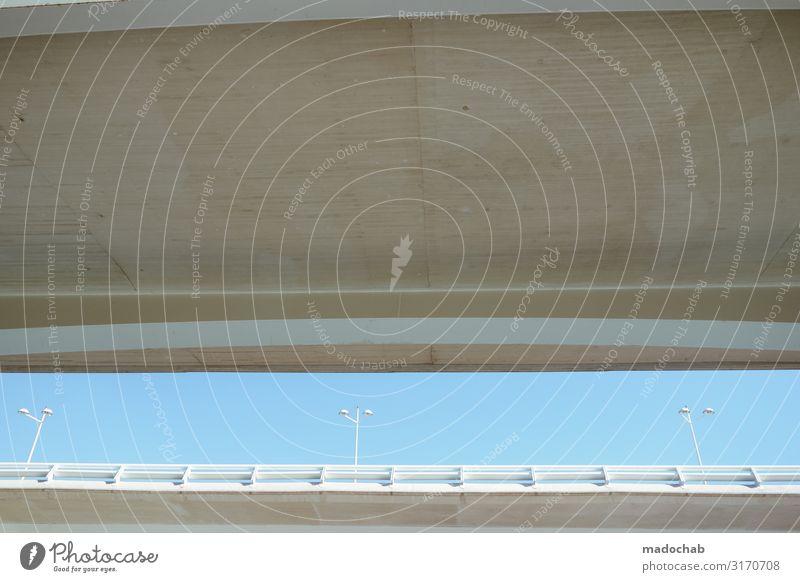 Y Y Y Stadt Ferne Architektur Wege & Pfade Gebäude Stimmung Zufriedenheit hell modern trist ästhetisch Brücke hoch Beton Sauberkeit Schutz