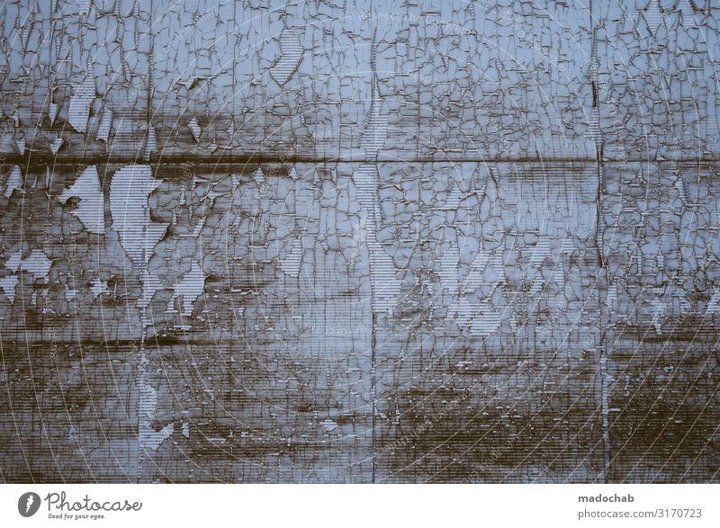 Alterungsprozess Linie Streifen alt dreckig Unendlichkeit kaputt trashig Senior ästhetisch bizarr Design schön Verfall Vergangenheit Vergänglichkeit Zerstörung