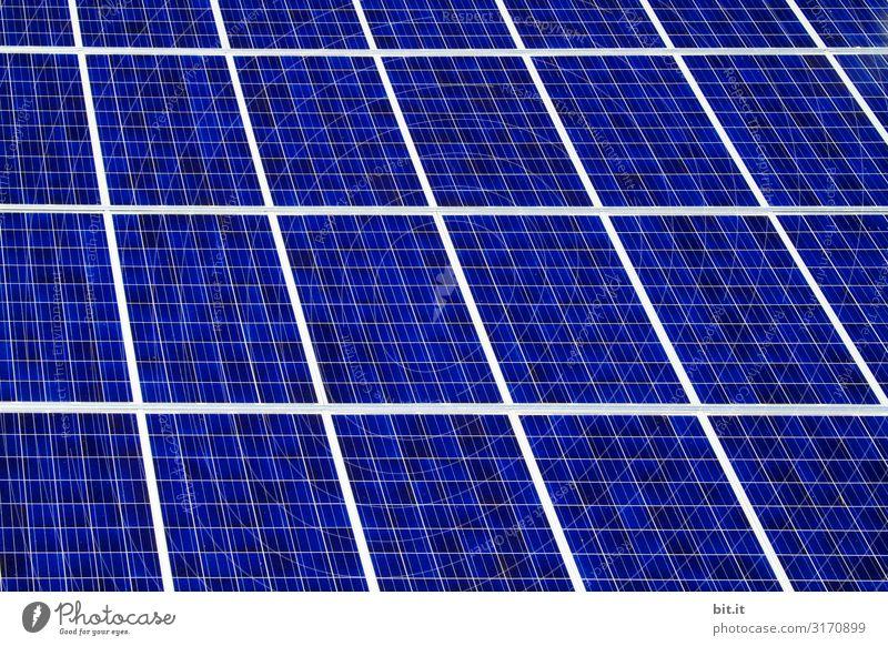Solarzellen einer Photovoltaikanlage auf Hausdach, zur erneuerbaren, nachhaltigen Stomerzeugung zum Klimaschutz. Umwelt Natur Klimawandel Umweltschutz