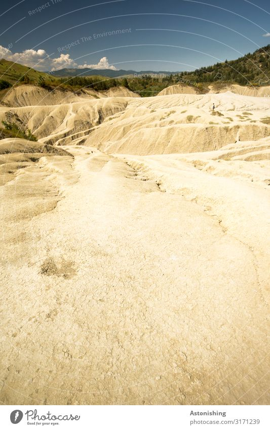 Trockenheit Umwelt Natur Landschaft Pflanze Erde Sand Luft Himmel Wolken Horizont Sommer Wetter Schönes Wetter Dürre Baum Gras Sträucher Hügel Berge u. Gebirge