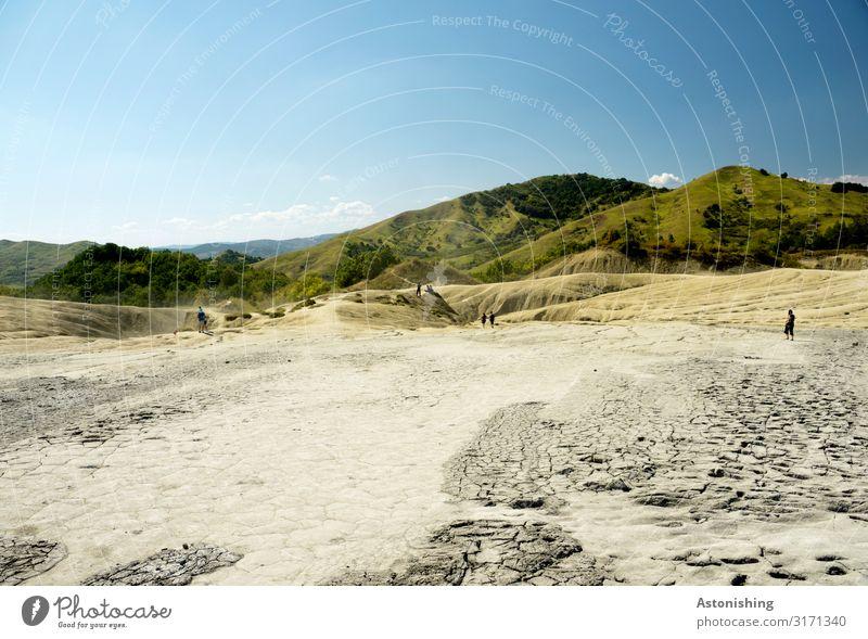 Schlamm - Landschaft Umwelt Natur Pflanze Erde Sand Himmel Horizont Sommer Wetter Wärme Dürre Gras Sträucher Hügel Berge u. Gebirge Karpaten Vulkan