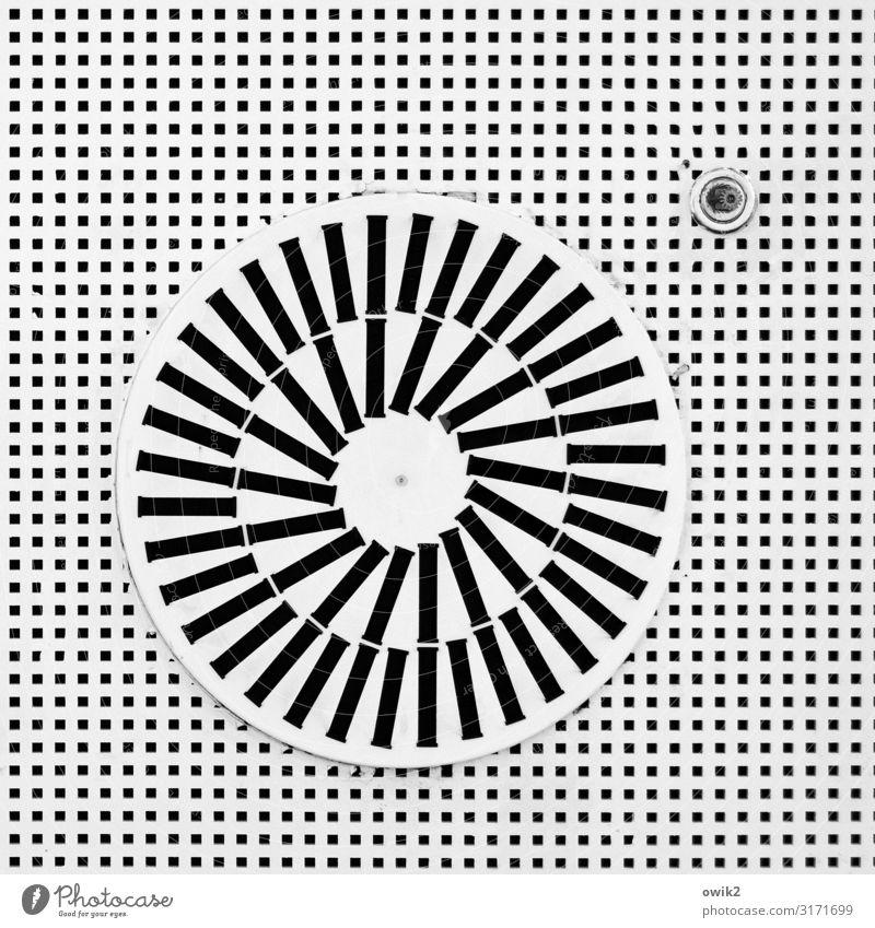 Air Condition Technik & Technologie Klimaanlage oben rund schwarz weiß bizarr komplex Stil Schwarzweißfoto Innenaufnahme Detailaufnahme abstrakt Muster