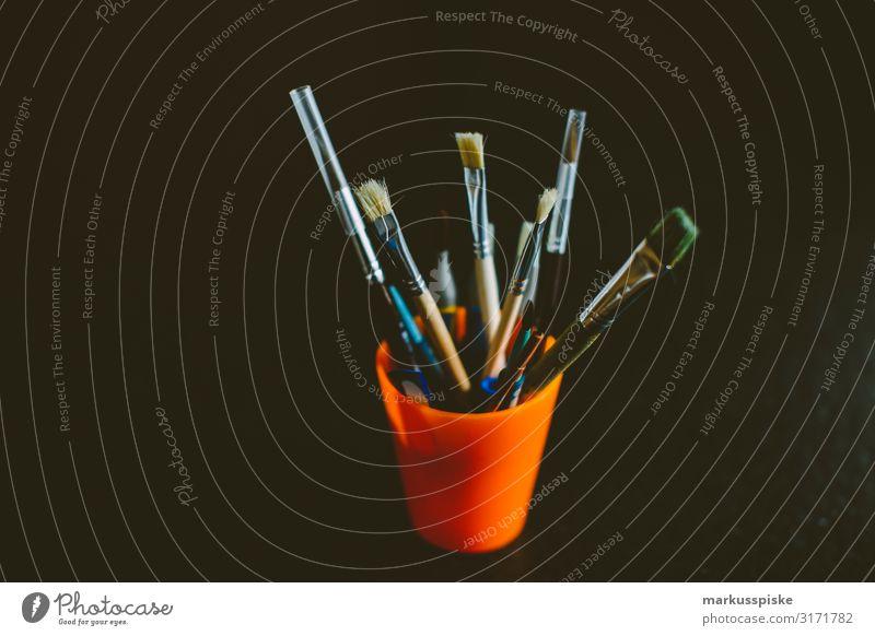 Farbpinsel Malen Lifestyle Stil Design Freude Freizeit & Hobby Basteln malen Gemälde Kunst Kunstwerk Kreativität Pinsel Farbstoff zeichnen ästhetisch