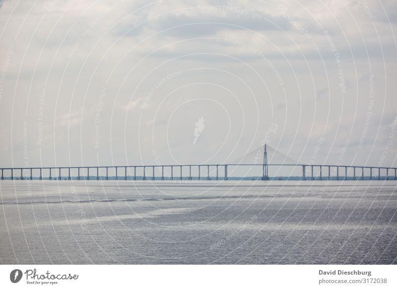 Brücke über dem Rio Negro Ferien & Urlaub & Reisen Landschaft Sehenswürdigkeit Verkehr Straßenverkehr Schienenverkehr Netzwerk Perspektive