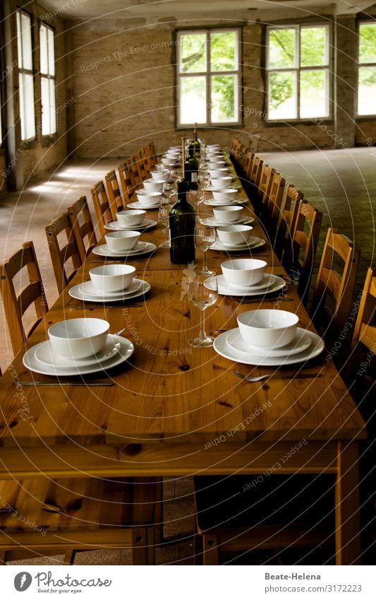 Guten Appetit (4) Essen Geschirr Teller Schalen & Schüsseln Flasche Glas Besteck Lifestyle kaufen Gesundheit Gesunde Ernährung Feste & Feiern Haus Mauer Wand