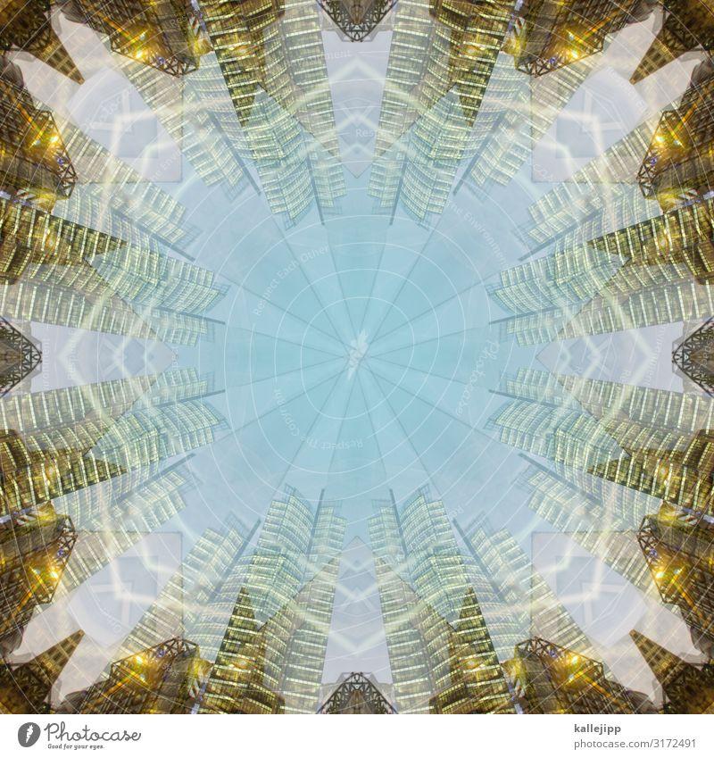 *3 Weihnachten & Advent Stadt Architektur Religion & Glaube Berlin Fassade Hochhaus Stern Stern (Symbol) Postkarte Doppelbelichtung Christentum