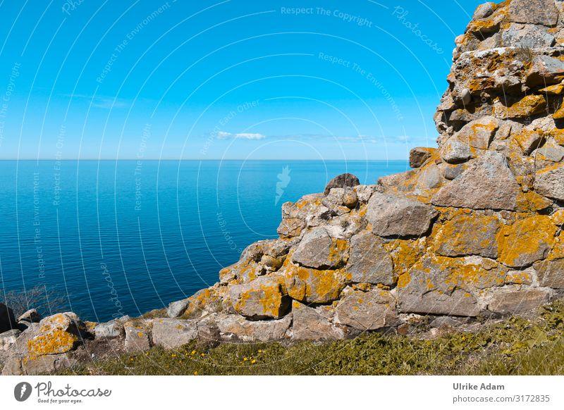 Alte Steinmauer mit Blick auf die Ostsee - Bornholm /Dänemark Ostseeinsel Ostseestrand Küste Strand Europa Insel ostseeküste Urlaub Meer