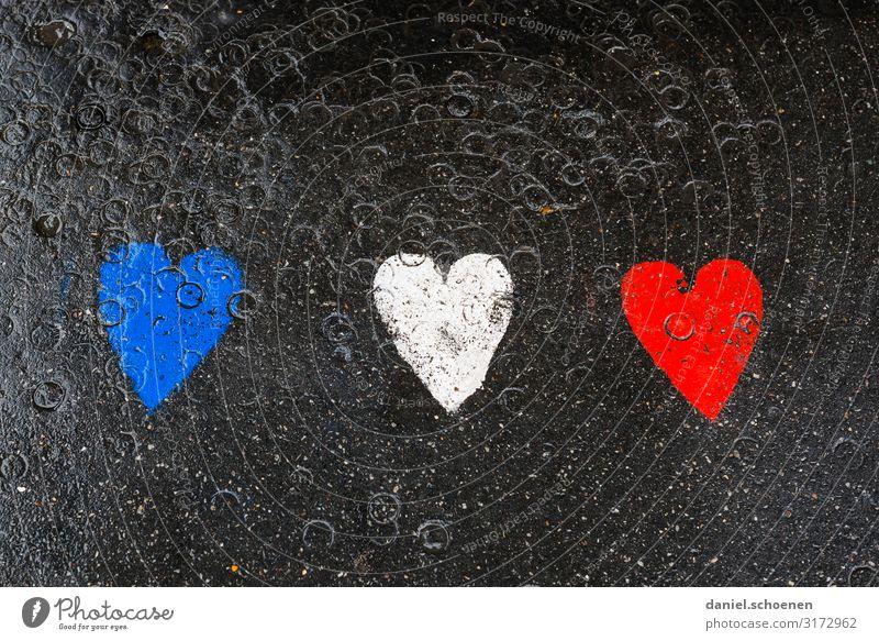Frankreich Ferien & Urlaub & Reisen Kunst Zeichen Graffiti Herz blau rot schwarz weiß Farbfoto Detailaufnahme Menschenleer Textfreiraum oben Textfreiraum unten