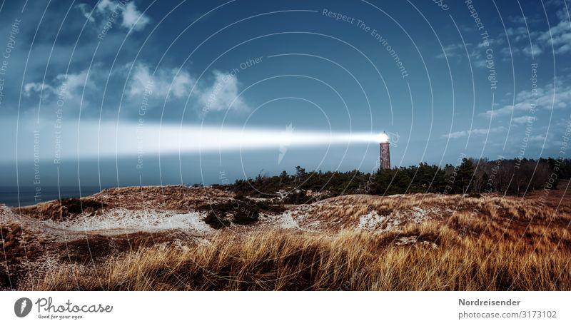 Leuchtturm Darßer Ort Sinnesorgane Ferien & Urlaub & Reisen Tourismus Strand Meer Insel Natur Landschaft Himmel Wolken Schönes Wetter Wind Wald Hügel Ostsee