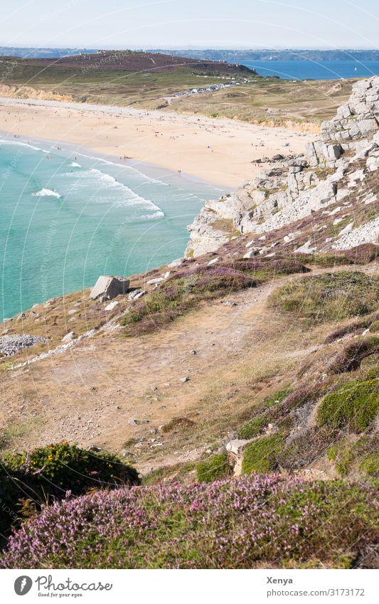 Bretagne - Pointe de Pen Hir Frankreich Küste Landschaft Außenaufnahme Ferien & Urlaub & Reisen Felsen Atlantik Tourismus Erholung Natur Farbfoto Meer Weitblick