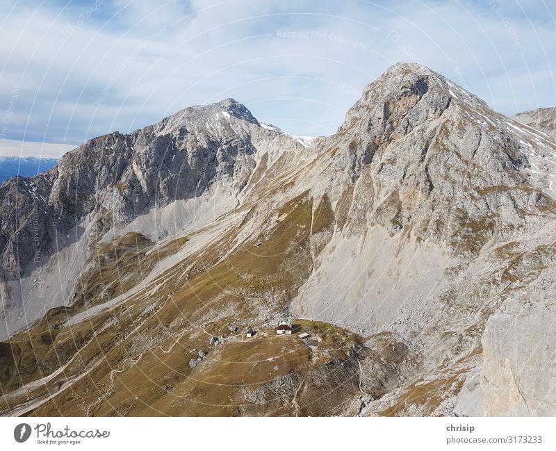 Guttenberghaus Umwelt Natur Landschaft Felsen Alpen Berge u. Gebirge Scheichenspitze Eselstein Gipfel fantastisch Unendlichkeit Stimmung Zufriedenheit Abenteuer