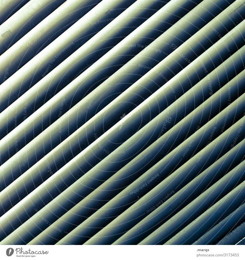 Lame//en Sichtschutz Barriere Kunststoff ästhetisch Coolness modern grün Ordnung Neigung Hintergrundbild Farbfoto Außenaufnahme Nahaufnahme abstrakt Muster