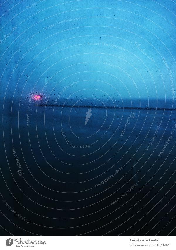 Kaimauer, Hafeneinfahrt Himmel blau Wasser schwarz Wand Umwelt Küste Mauer Regen Angst Wetter Luft Wassertropfen nass Klima