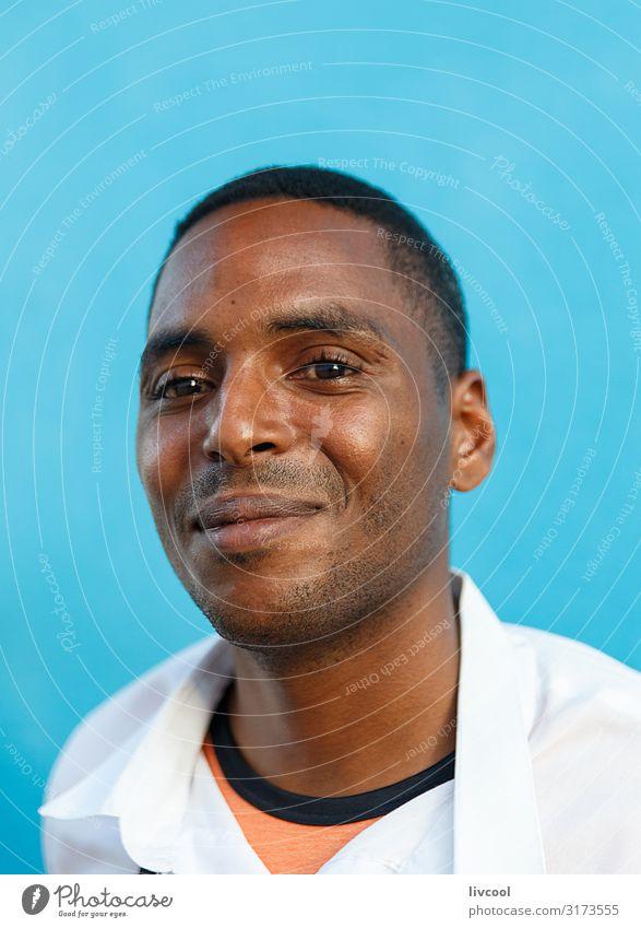 junger kellner II , trinidad - kuba Lifestyle Glück Leben Insel Mensch Junger Mann Jugendliche Erwachsene Kopf Gesicht Auge Mund Lippen 1 18-30 Jahre Fassade