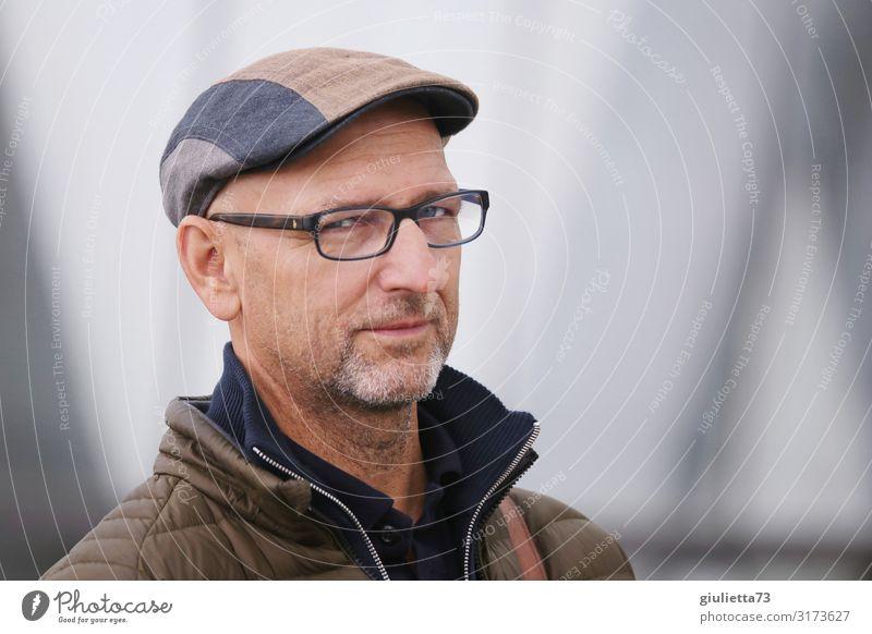 Ich kann Deine Gedanken lesen... | UT HH19 Mann Erwachsene Männlicher Senior Mensch 45-60 Jahre 60 und älter Brille Mütze grauhaarig Glatze Dreitagebart