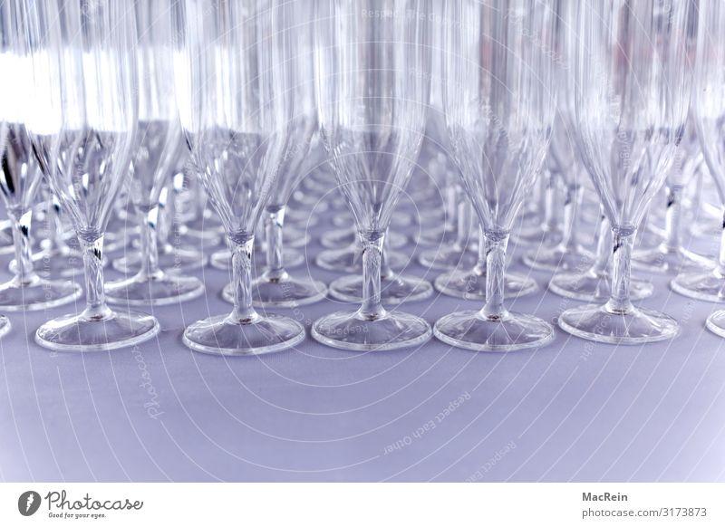 Sektgläser Ferien & Urlaub & Reisen Tourismus Textfreiraum Glas durchsichtig zerbrechlich aufgereiht Sektglas Trinkgefäß