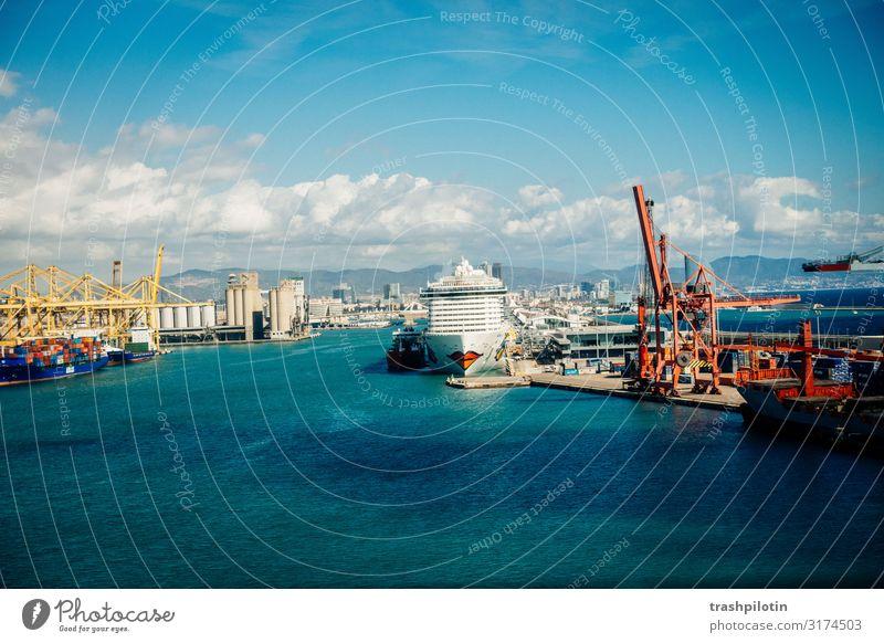 Treffen in Barcelona Ferien & Urlaub & Reisen Tourismus Ausflug Ferne Freiheit Städtereise Kreuzfahrt Schönes Wetter Spanien Europa Hafenstadt Schifffahrt