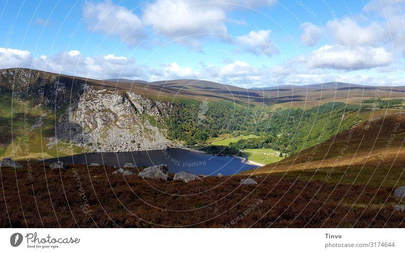 Lough Tay Landschaft Herbst Schönes Wetter Hügel Felsen Berge u. Gebirge Seeufer Erholung ruhig Ferien & Urlaub & Reisen Nordirland Guinness Lake Eindruck