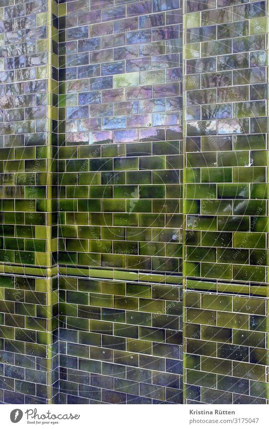 kachelwand Haus Dekoration & Verzierung Architektur Fassade glänzend grün Fliesen u. Kacheln kachelfassade fliesenfassade verkleidung verkleiden refektieren
