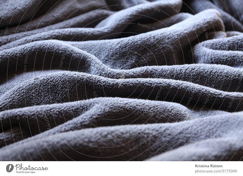 stofflandschaft Wellen Landschaft Stoff kuschlig weich grau bequem wohndecke Decke tagesdecke falten Faltenwurf anthrazit struktur Textfreiraum Textilien