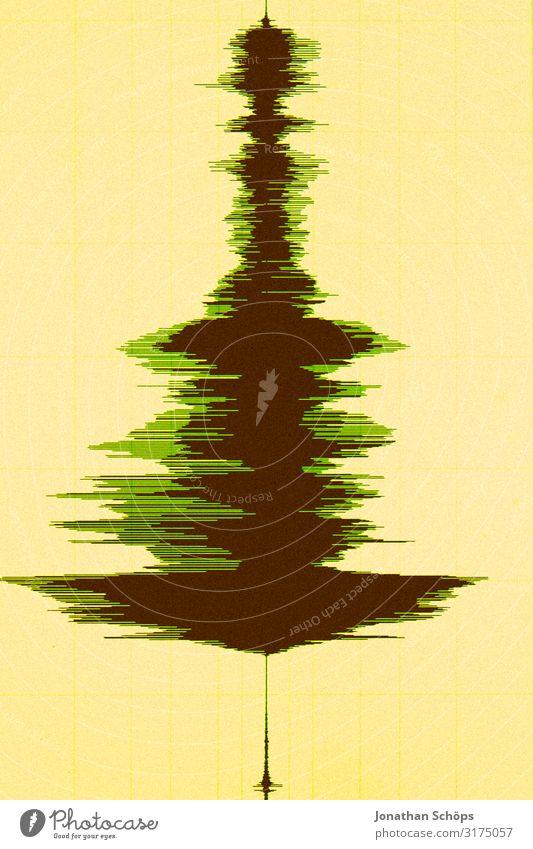 Weihnachtsbaum in Wellenform Weihnachten & Advent Baum Anti-Weihnachten Kunst Musik ästhetisch hören Medien Feiertag Bildschirm Radio Klang Ton