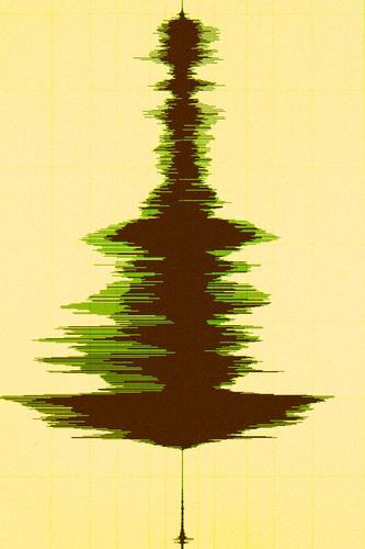 Weihnachtsbaum in Wellenform Weihnachten & Advent Anti-Weihnachten Weihnachtslieder Weihnachtsdekoration Baum Feiertag abstrakt Kunst Musik Musik hören Medien