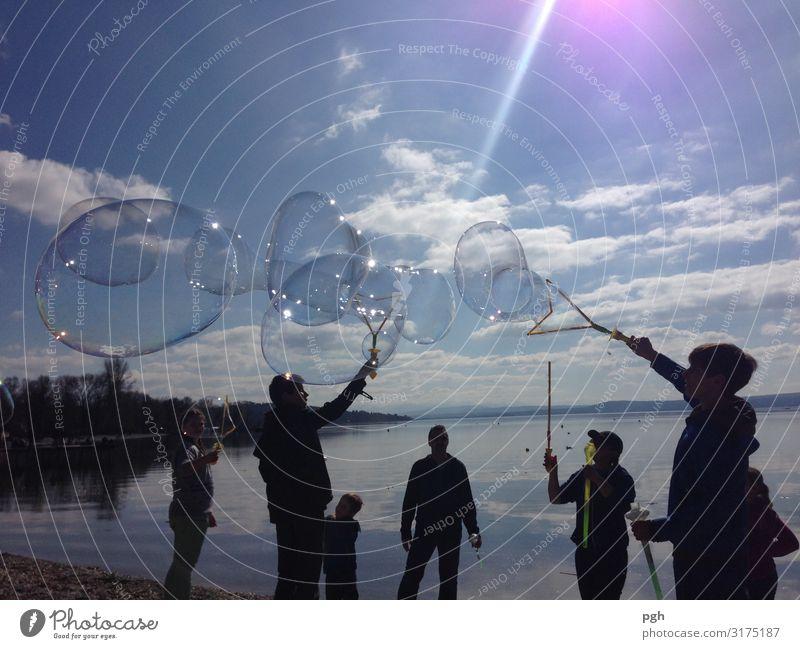 Seifenblasen am Ammersee Mensch Familie & Verwandtschaft Freundschaft Jugendliche Kunst Künstler Theaterschauspiel Kultur Veranstaltung Show Umwelt Natur Wasser