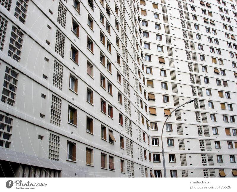 Penthouse Loft Lifestyle Reichtum Geld sparen Häusliches Leben Wohnung Umzug (Wohnungswechsel) Stadt Haus Hochhaus Bauwerk Gebäude Architektur Fassade Fenster