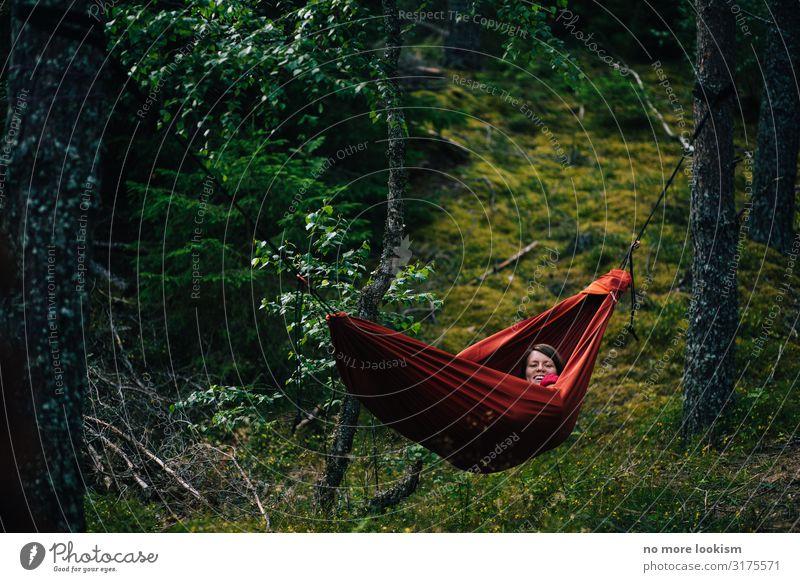 no trees, no hammock Umwelt Natur Landschaft Pflanze Klima Klimawandel Moos Wald atmen genießen hängen schaukeln schlafen träumen nachhaltig natürlich