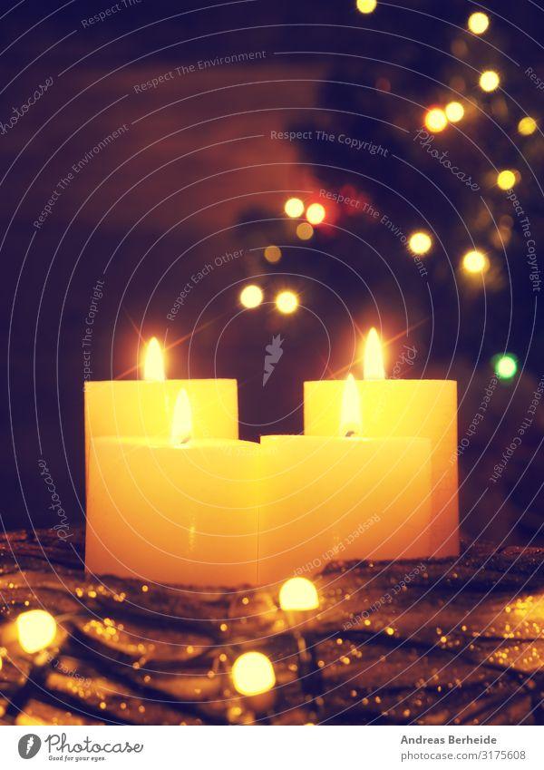 Vier Lichtlein brennen Weihnachten & Advent Winter Hintergrundbild Stil Stimmung Dekoration & Verzierung Musik Romantik Kerze Symbole & Metaphern Tradition