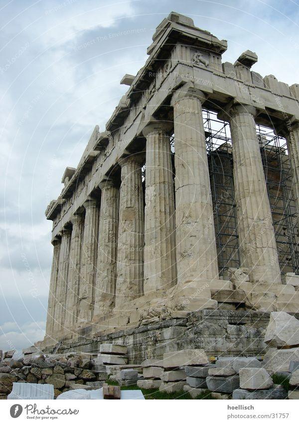 Akropolis Vergangenheit Bauwerk historisch Säule Griechenland antik Tempel Athen Panthéon Parthenon