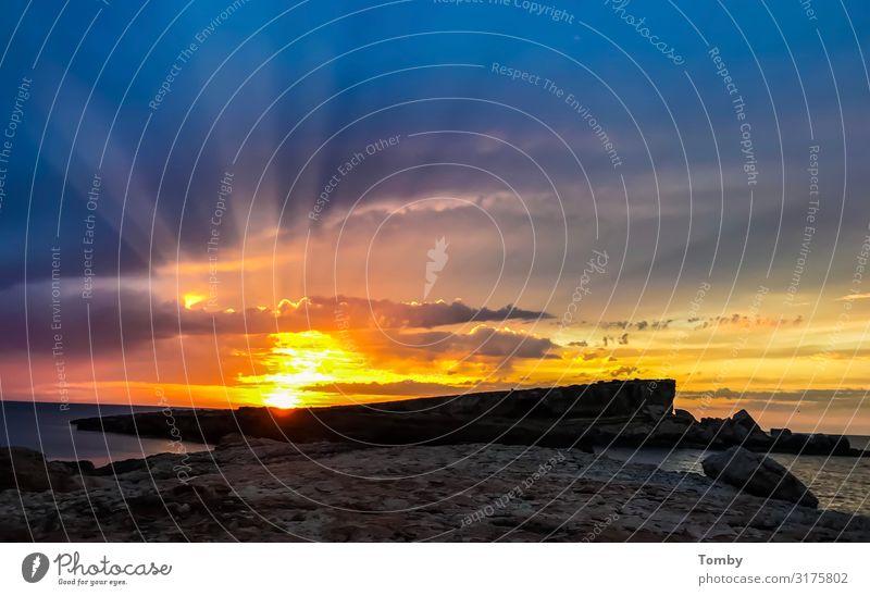 Ibiza, Sonnenuntergang, Sunset Natur Landschaft Sonnenaufgang Sonnenlicht Strand Meer Mittelmeer Insel Erholung genießen Schwimmen & Baden wandern