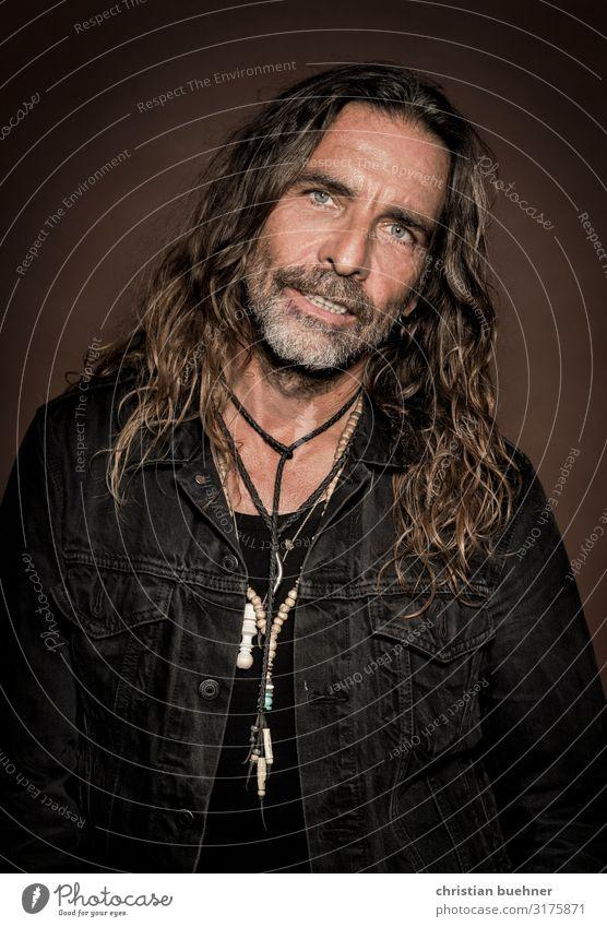 long hair Mann Erwachsene 45-60 Jahre Freundlichkeit positiv Lebensfreude Optimismus Senior elegant Gefühle einzigartig Kreativität Kunst Leichtigkeit Liebe