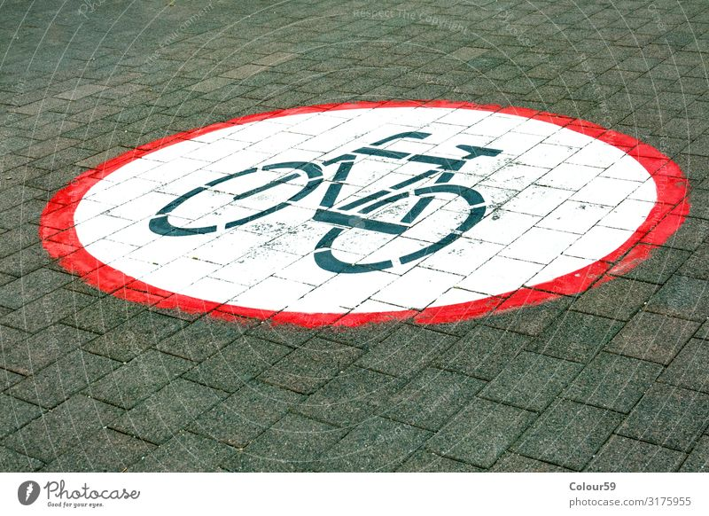 Fahrrad fahren verboten Park Wege & Pfade Signal Hintergrundbild Symbole & Metaphern Fahrradfahren Verbot Verbotsschild Hinweis Strasse Bürgersteig Schild