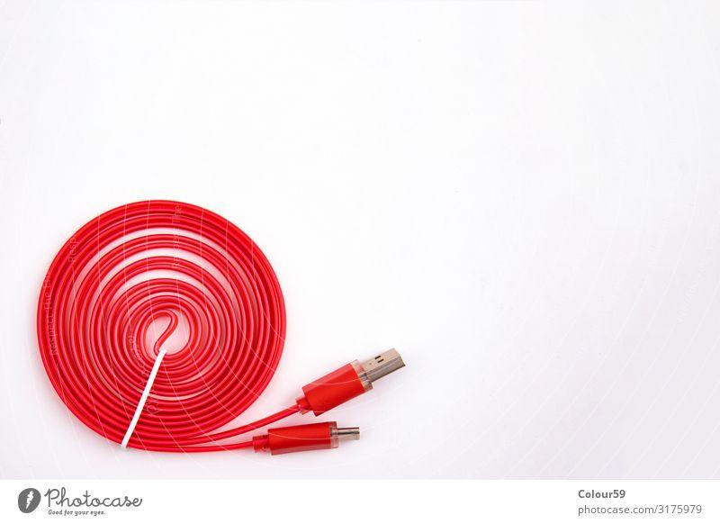 USB Kabel Typ C Industrie Computer Hardware Technik & Technologie Unterhaltungselektronik Metall Kunststoff rot Kraft Symbole & Metaphern usb-c Schnittstelle