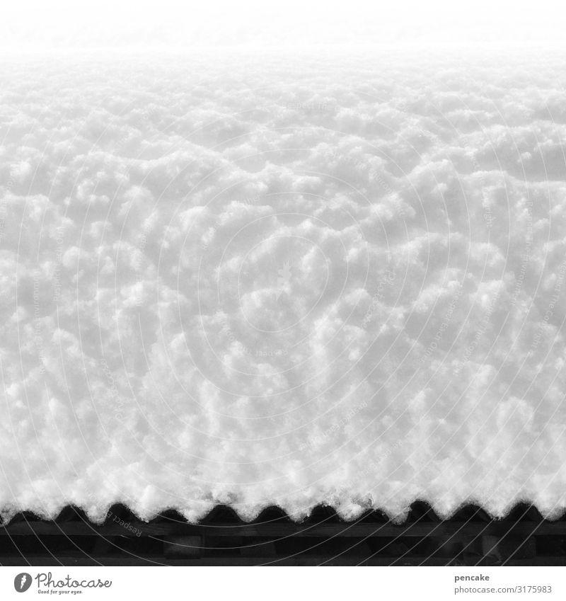 weißröckchen Natur Winter kalt Schnee hell ästhetisch bedrohlich Dach Hütte Schneedecke