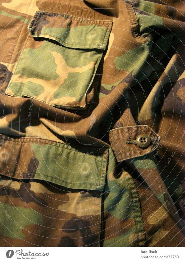 Camouflage Tarnung Soldat Jacke Tasche Accessoire USA US-Armee Makroaufnahme Nahaufnahme Militaria Marines
