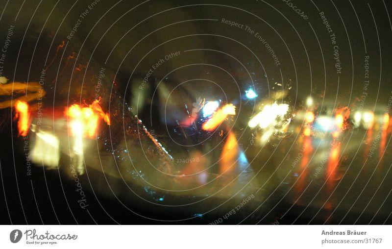 lightart on road Straßenverkehr Verkehr Lichtspiel