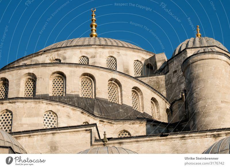 Blaue Moschee in beige Ferien & Urlaub & Reisen Tourismus Sightseeing Städtereise Istanbul Türkei Europa Stadt Stadtzentrum Altstadt Kirche Bauwerk Gebäude
