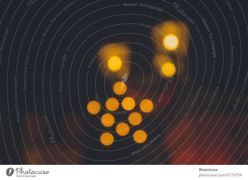 magical light Kunst Dekoration & Verzierung gelb schwarz Lichterscheinung glänzend Schwache Tiefenschärfe Unschärfe leuchten Lichtpunkt Weihnachten & Advent