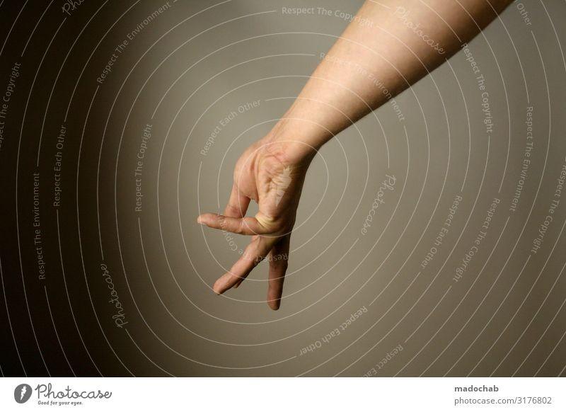 Handpuppe Körper Haut Arme Finger Zeichen ästhetisch Gebärdensprache Kommunizieren Farbfoto Gedeckte Farben mehrfarbig Studioaufnahme Menschenleer
