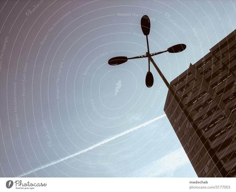 Quadrocopter Lifestyle Stadt Fußgängerzone Menschenleer Hochhaus Fassade eckig gigantisch hässlich trashig trist Sicherheit Schutz standhaft Einsamkeit Kraft