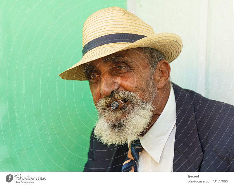 eleganter großvater III, trinidad - kuba Lifestyle Glück Leben Insel Mensch maskulin Mann Erwachsene Männlicher Senior Großvater Kopf Gesicht Auge Ohr Nase Mund