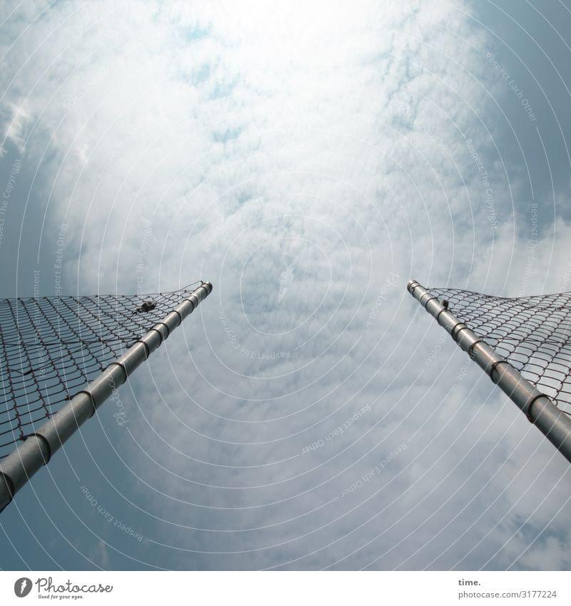 Geschichten vom Zaun (VII) Himmel Erholung Wolken Leben Glück Zufriedenheit Linie Metall offen Kommunizieren Luft Kraft Fröhlichkeit Lebensfreude Perspektive
