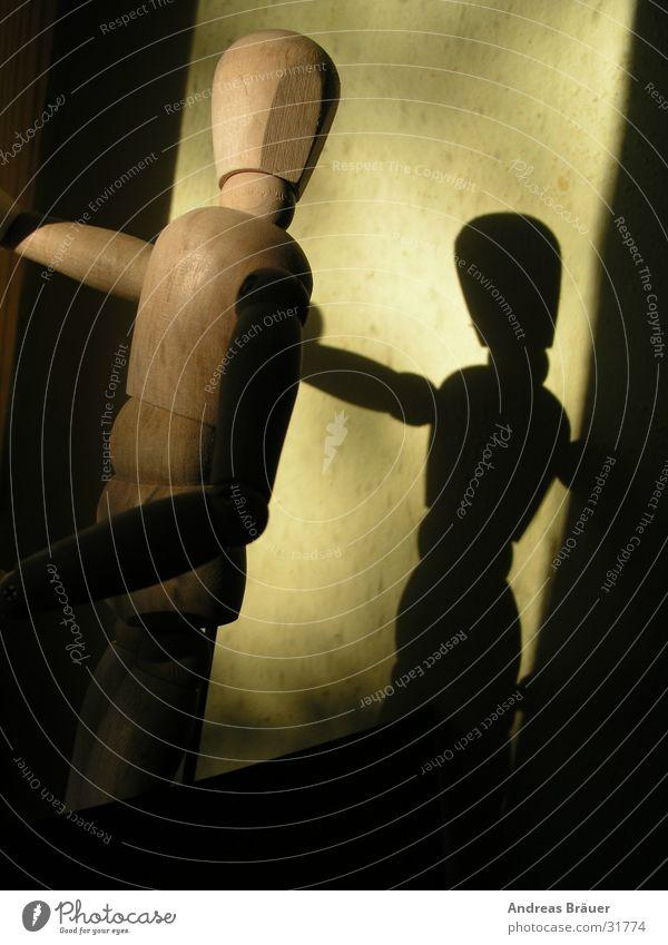 Schattenspiel #1 Mensch Wand Dekoration & Verzierung Häusliches Leben Puppe Holzpuppe