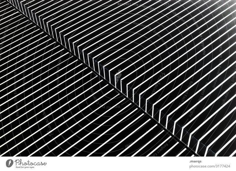 3300 | Knick in der Optik Design abstrakt Linie eckig elegant weiß Stil Grafik u. Illustration Muster diagonal steril Ecke Surrealismus Genauigkeit